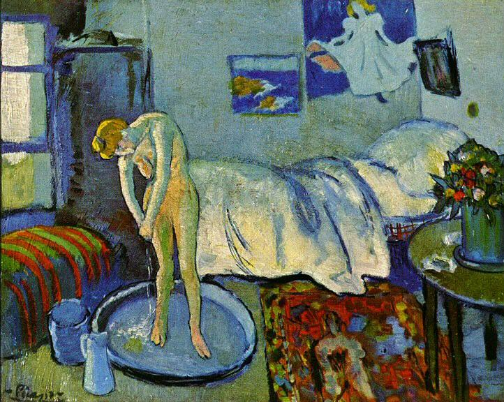 1901 La chambre bleue (Le tub). Pablo Picasso (1881-1973) Period of creation: 1889-1907