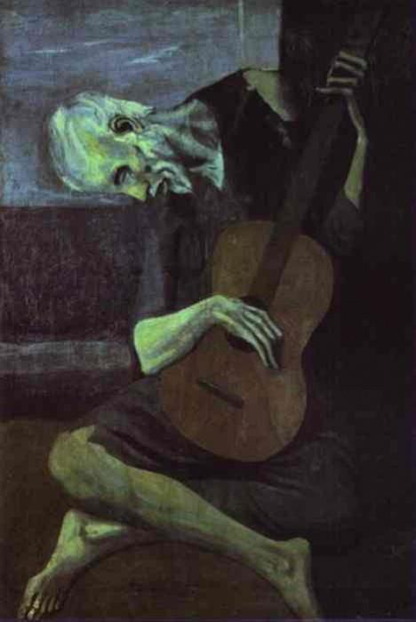 1903 Le vieux guitariste. Pablo Picasso (1881-1973) Period of creation: 1889-1907