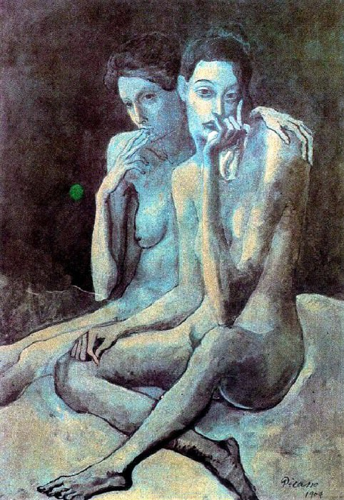 1904 Les deux amies. Pablo Picasso (1881-1973) Period of creation: 1889-1907
