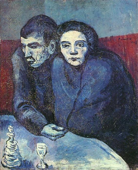 1903 Couple dans un cafВ. Pablo Picasso (1881-1973) Period of creation: 1889-1907