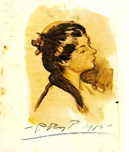 1899 Portrait de Lola. Pablo Picasso (1881-1973) Period of creation: 1889-1907
