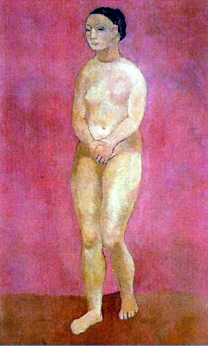 1906 Femme nue debout. Pablo Picasso (1881-1973) Period of creation: 1889-1907