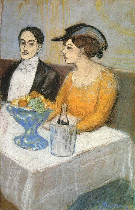 1902 Homme et femme (Angel Fernаndez de Soto et sa compagne). Pablo Picasso (1881-1973) Period of creation: 1889-1907