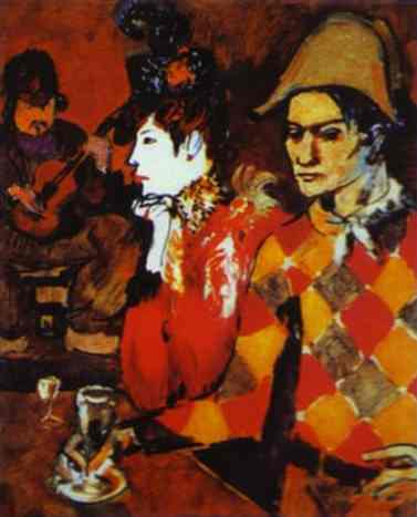 1905 Au Lapin Agile ou Arlequin avec un verre. Pablo Picasso (1881-1973) Period of creation: 1889-1907