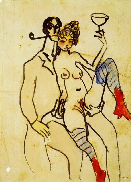 1902 Angel Fernаndez de Soto avec une femme. Пабло Пикассо (1881-1973) Период: 1889-1907