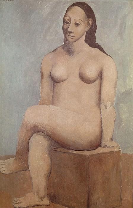 1906 Femme nue sur pierre carrВe. Pablo Picasso (1881-1973) Period of creation: 1889-1907