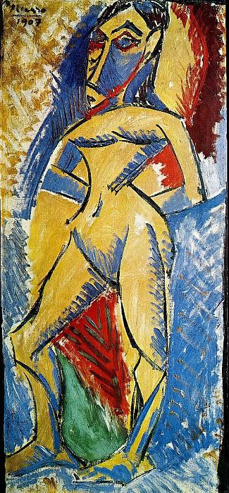 1907 Femme nue en pied. Pablo Picasso (1881-1973) Period of creation: 1889-1907
