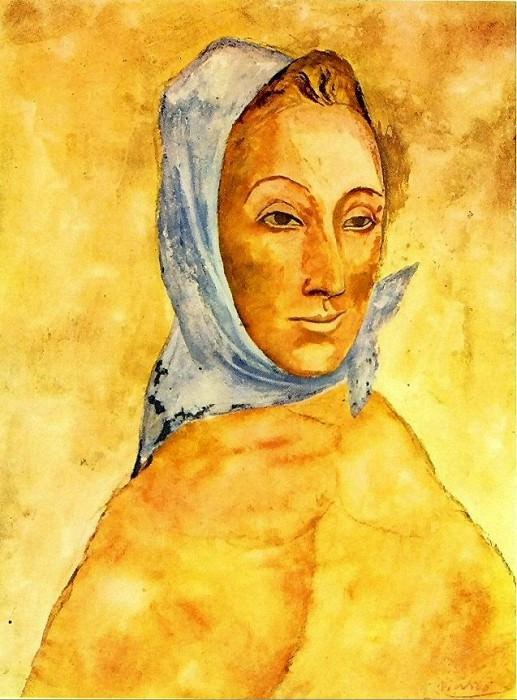 1906 Portrait de Fernande Olivier au foulard. Pablo Picasso (1881-1973) Period of creation: 1889-1907