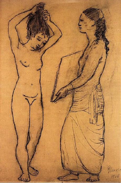 1906 La toilette. Пабло Пикассо (1881-1973) Период: 1889-1907 (Рtude)