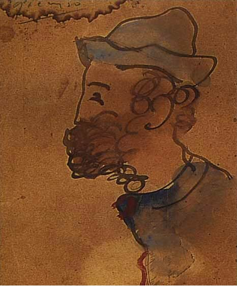 1897 Portrait de Ramon Pixot. Пабло Пикассо (1881-1973) Период: 1889-1907