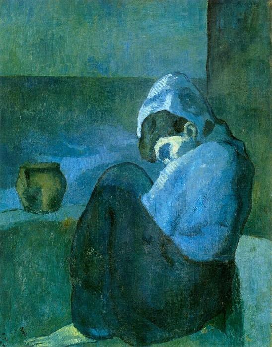 1902 Femme assise au capuchon. Пабло Пикассо (1881-1973) Период: 1889-1907