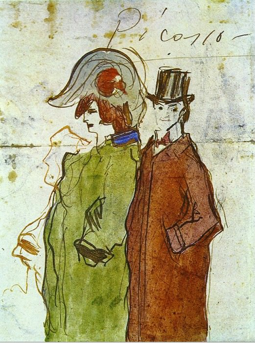 1901 Picasso avec partenaire. Pablo Picasso (1881-1973) Period of creation: 1889-1907