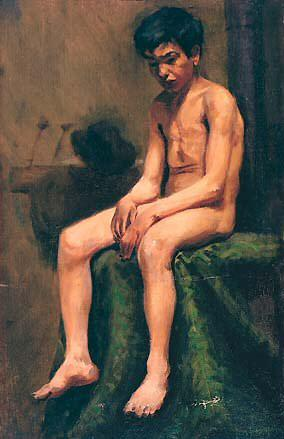 1898 GarЗon bohВmien nu. Pablo Picasso (1881-1973) Period of creation: 1889-1907
