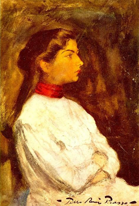 1899 Portrait de Lola2. Пабло Пикассо (1881-1973) Период: 1889-1907