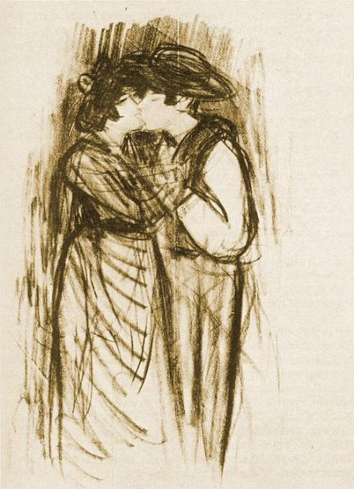 1899 Le baiser. Пабло Пикассо (1881-1973) Период: 1889-1907