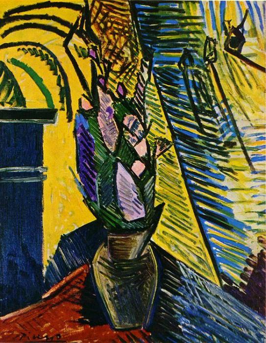 1907 Fleurs sur une table. Pablo Picasso (1881-1973) Period of creation: 1889-1907