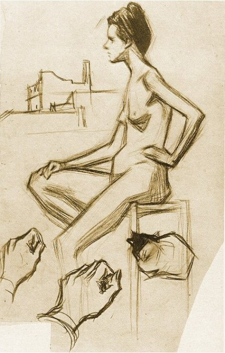 1899 Femme nue assise. Pablo Picasso (1881-1973) Period of creation: 1889-1907