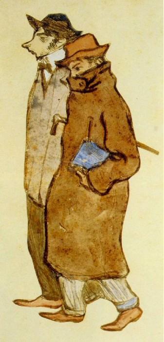 1899 Picasso et le peintre Casagemas. Пабло Пикассо (1881-1973) Период: 1889-1907