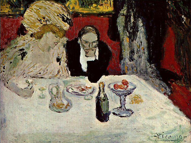 1901 Les soupeurs2. Пабло Пикассо (1881-1973) Период: 1889-1907