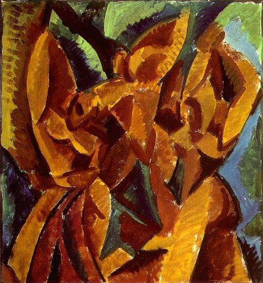 1907 Trois femmes. Пабло Пикассо (1881-1973) Период: 1889-1907 (Рtude)