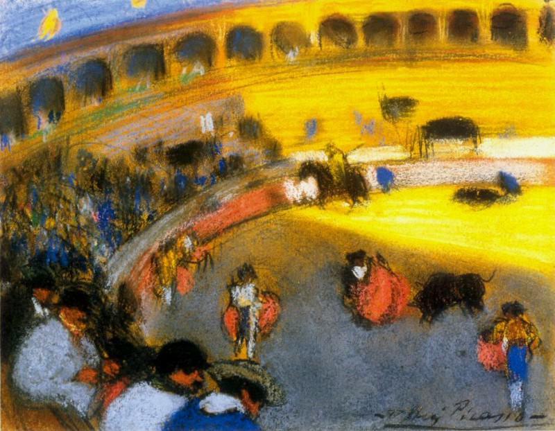 1900 Courses de taureaux. Пабло Пикассо (1881-1973) Период: 1889-1907