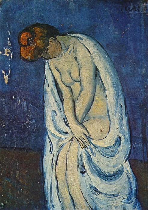 1901 Femme sortant du bain. Пабло Пикассо (1881-1973) Период: 1889-1907