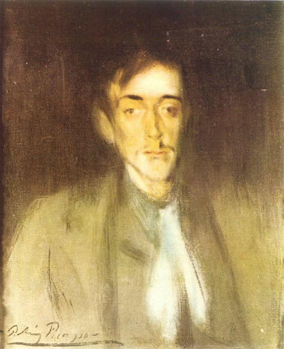 1899 Portrait dAngel F de Soto. Пабло Пикассо (1881-1973) Период: 1889-1907