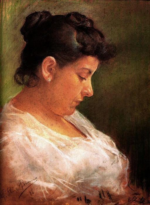 1896 Portrait de la mКre de lartiste2. Pablo Picasso (1881-1973) Period of creation: 1889-1907