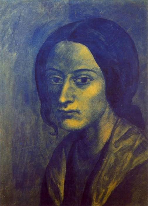 1903 Femme Е la boucle. Pablo Picasso (1881-1973) Period of creation: 1889-1907