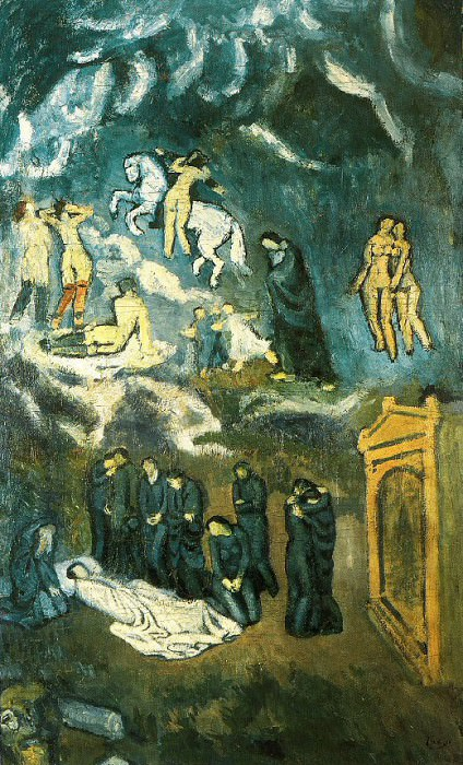1901 Evocation (Lenterrement de Casagemas). Pablo Picasso (1881-1973) Period of creation: 1889-1907