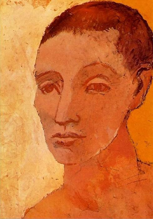 1906 TИte de jeune homme2. Pablo Picasso (1881-1973) Period of creation: 1889-1907
