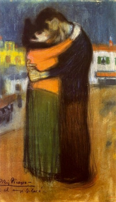 1900 Les amants dans la rue (L Вtreinte). Pablo Picasso (1881-1973) Period of creation: 1889-1907