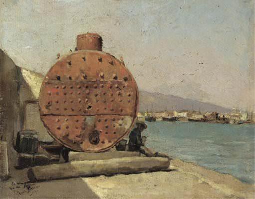 1900 Port de Mаlaga. Пабло Пикассо (1881-1973) Период: 1889-1907