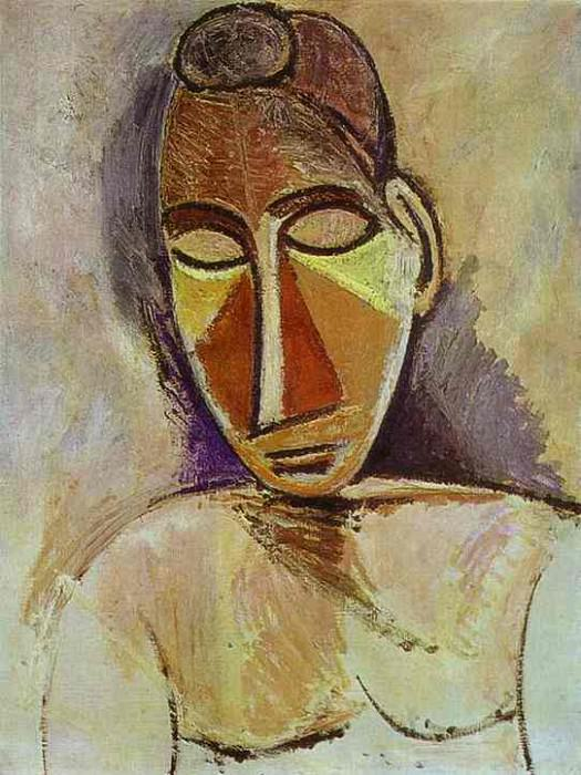 1907 Nu buste. Pablo Picasso (1881-1973) Period of creation: 1889-1907