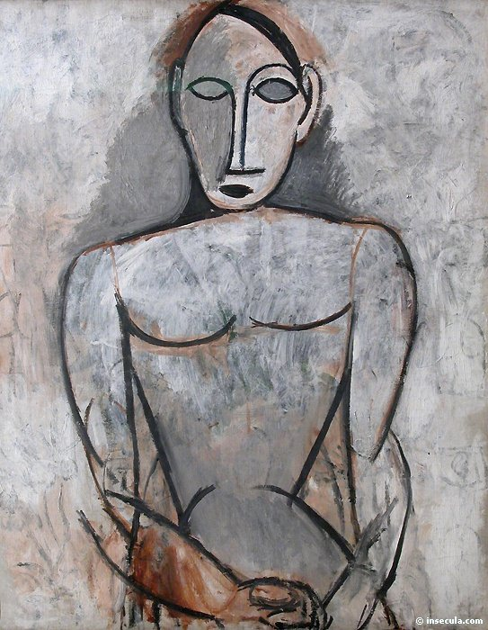 1907 Femme aux mains jointes. Pablo Picasso (1881-1973) Period of creation: 1889-1907