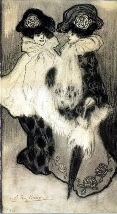 1901 Deux femmes. Пабло Пикассо (1881-1973) Период: 1889-1907