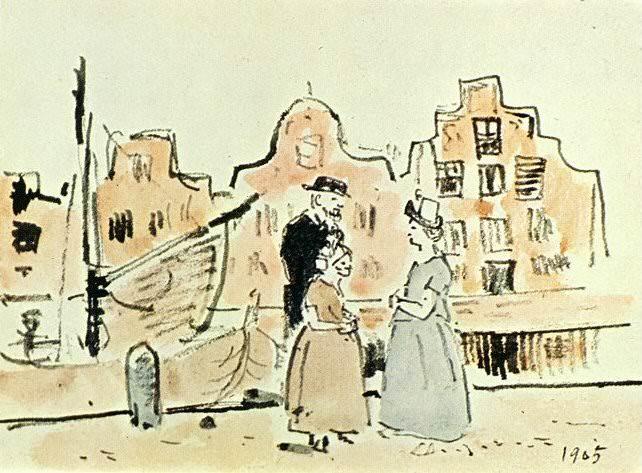 1905 Au bord du canal. Pablo Picasso (1881-1973) Period of creation: 1889-1907