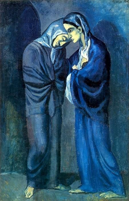 1902 Lentrevue (Les deux soeurs). Pablo Picasso (1881-1973) Period of creation: 1889-1907