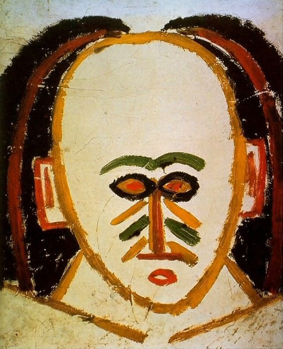 1907 TИte dhomme3. Pablo Picasso (1881-1973) Period of creation: 1889-1907