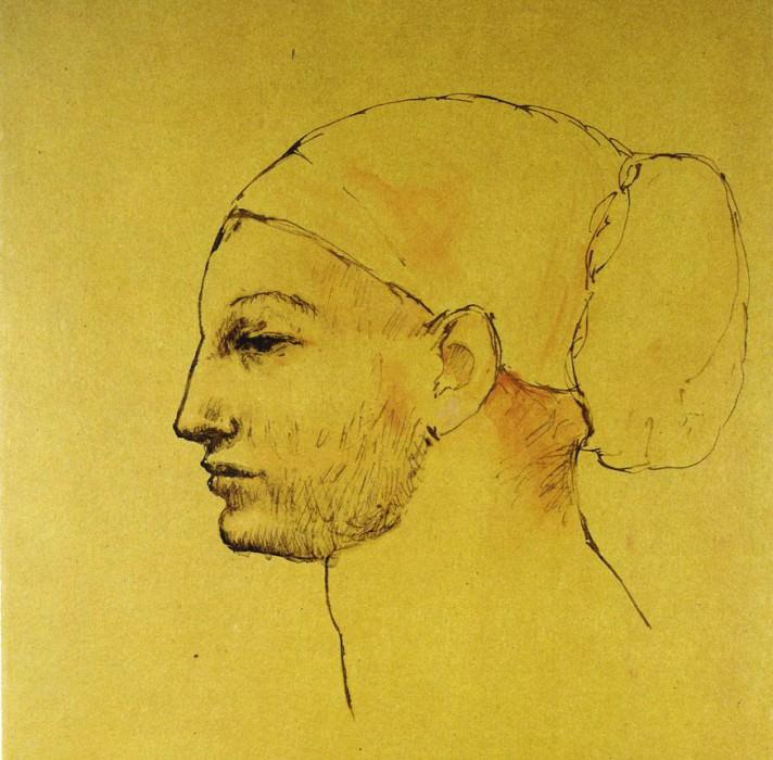 1906 TИte de femme au chignon - Profil. Pablo Picasso (1881-1973) Period of creation: 1889-1907