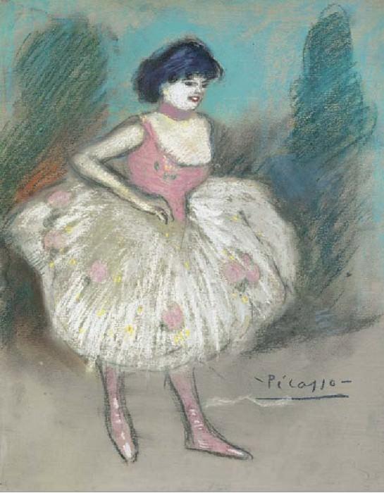 1901 Ballerina. Пабло Пикассо (1881-1973) Период: 1889-1907