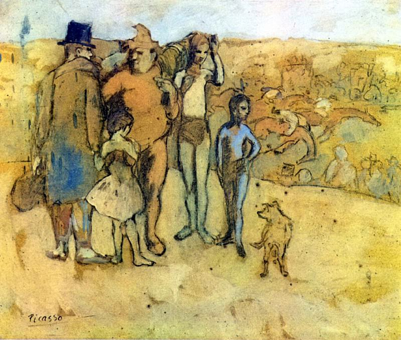 1905 Famille de saltimbanques. Pablo Picasso (1881-1973) Period of creation: 1889-1907 (Рtude)