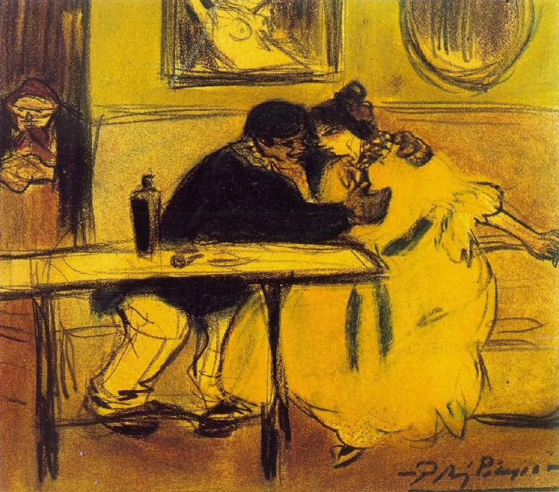 1899 Le divan. Pablo Picasso (1881-1973) Period of creation: 1889-1907