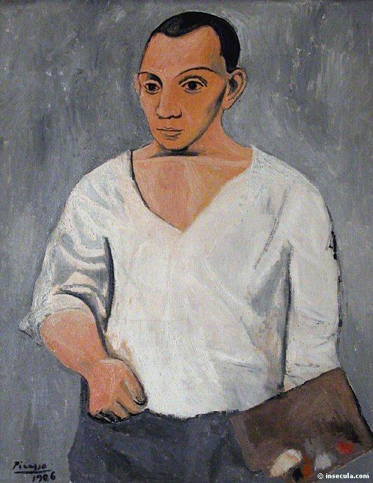 1906 Autoportrait Е la palette. Пабло Пикассо (1881-1973) Период: 1889-1907