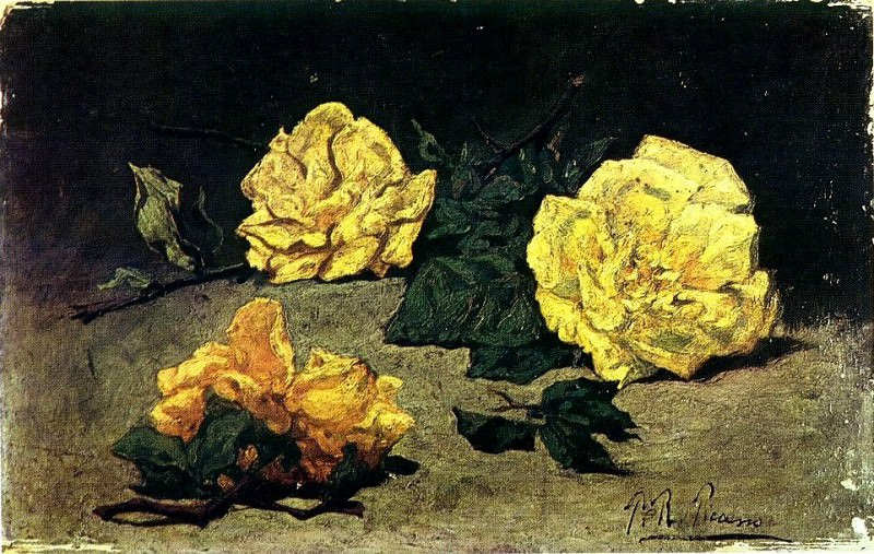 1898 Trois roses. Pablo Picasso (1881-1973) Period of creation: 1889-1907