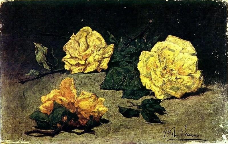 1898 Trois roses. Пабло Пикассо (1881-1973) Период: 1889-1907