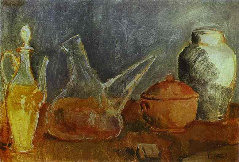 1906 Nature morte aux vases1. Pablo Picasso (1881-1973) Period of creation: 1889-1907