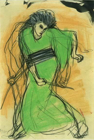 1901 La danseuse Sada Yacco. Pablo Picasso (1881-1973) Period of creation: 1889-1907