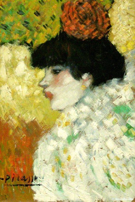 1901 Fille de profil. Pablo Picasso (1881-1973) Period of creation: 1889-1907