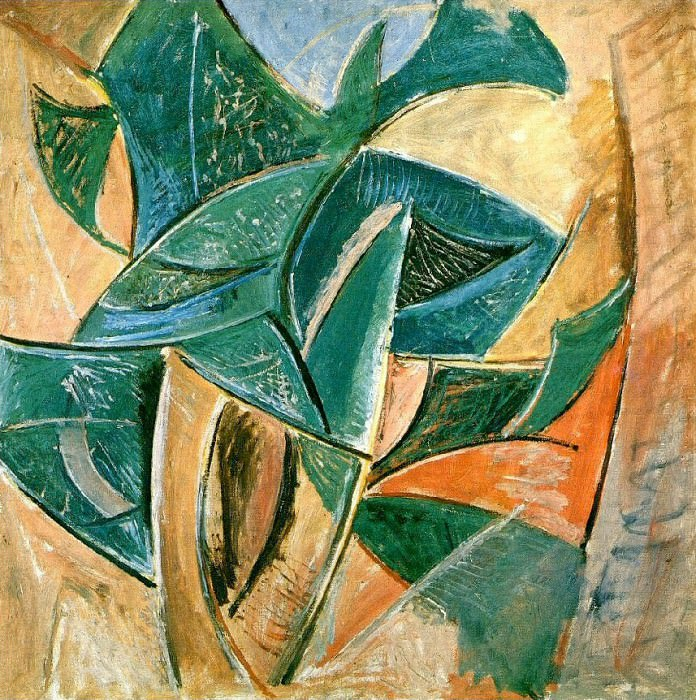 1907 Paysage Larbre. Pablo Picasso (1881-1973) Period of creation: 1889-1907 ()